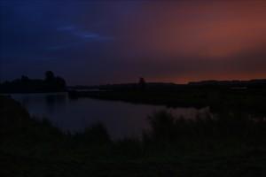 Zonsopkomst boven Het Twiske. Fotograaf: Klaas Hollebeek