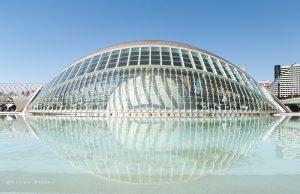 Een bijzonder gebouw uit de Ciudad de las Artes y las Ciencias is het L'Hemisfèric