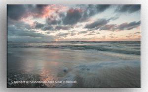 Strand en zonsondergang bij Egmond aan Zee